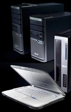 Acer termékek, Notebook ( Laptop ), Asztali számítógép, PC