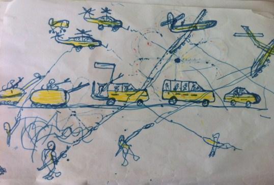 Uno dei disegni fatti da Bilal
