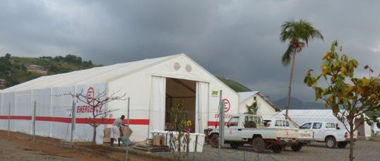 Il nuovo Ebola Treatment Centre di EMERGENCY a Goderich, in Sierra Leone