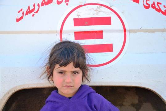 Nel campo per sfollati iracheni ad Arbat, Iraq