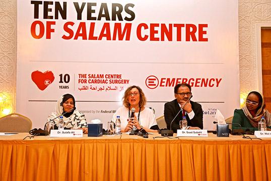 Rossella Miccio, Presidente di EMERGENCY, alla conferenze per i 10 anni del Centro Salam di cardiochirurgia in Sudan