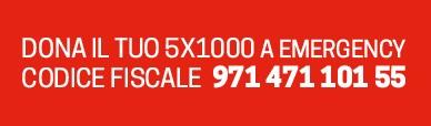 Dona il tuo 5x1000 a EMERGENCY CF 97147110155