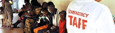 Entrata del Centro pediatrico di EMERGENCY a Bangui in Repubblica Centrafricana
