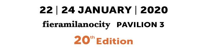 22/24 gennaio 2020 - fieramilanocity - pad. 3