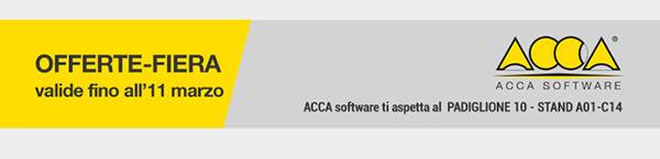 ACCA software ti aspetta al Padiglione 10 - Stand A01-C14