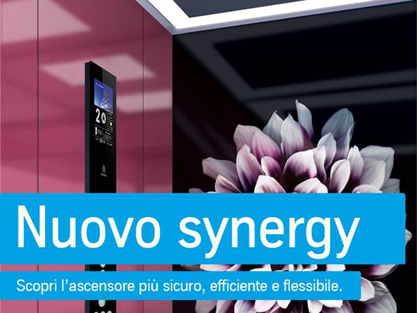 Nuovo synergy. Scopri l'ascensore più sicuro, efficiente e flessibile.