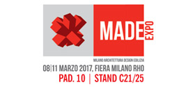 Made Expo - Pad. 10 | Stand C21/25