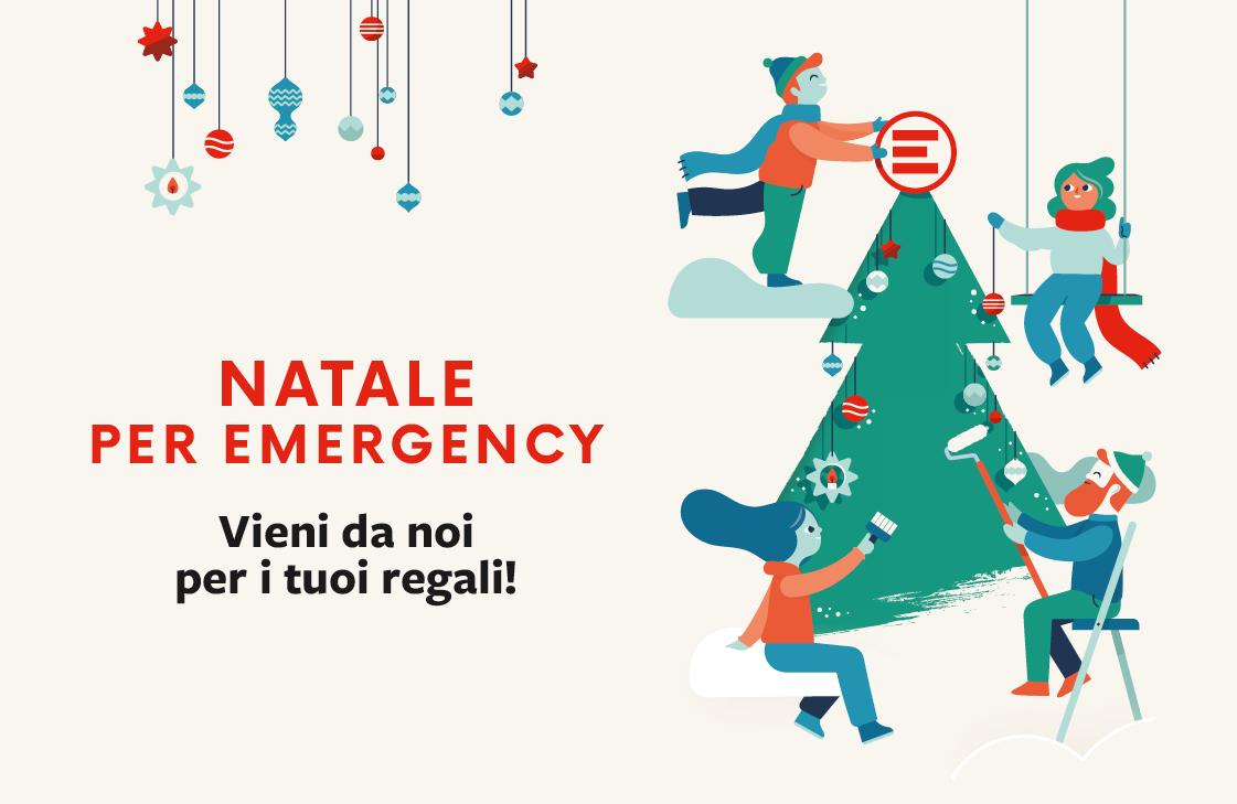 Illustrazione per gli Spazi Natale di EMERGENCY