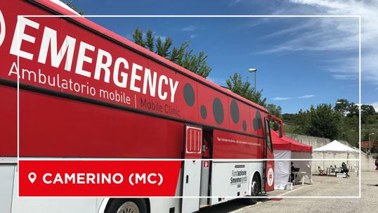 L'ambulatorio mobile di EMERGENCY a Camerino