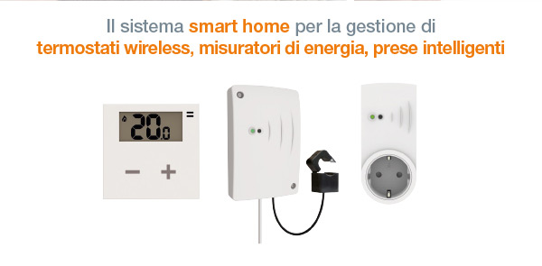 per la gestione di termostati wireless, misuratori di energia, prese intelligenti